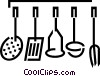 Vector Clip Art picture  of a Cooking utensils