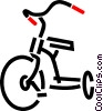 Vector Clipart graphic  of a Tricycle