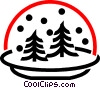 Winter snow globe Vector Clipart graphic