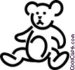 Teddy bear Vector Clipart illustration