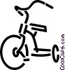 Vector Clip Art image  of a Tricycle