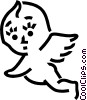 Baby angel Vector Clipart graphic