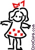 Vector Clipart image  of a Play doll