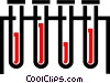 Vector Clip Art image  of a Test tubes