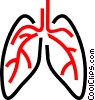 Human lungs Vector Clipart illustration
