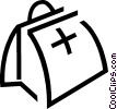 Vector Clipart graphic  of a Medical bag