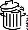 Vector Clipart illustration  of a Trash can