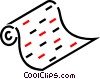 Vector Clip Art graphic  of a Roll of paper