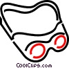 Vector Clip Art graphic  of a Safety glasses