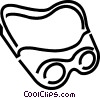 Vector Clipart graphic  of a Safety glasses