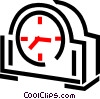 Mantle clock Vector Clipart image