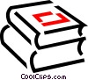 Vector Clipart graphic  of a Textbooks
