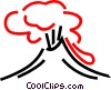 Volcanoes Vector Clip Art picture