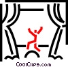 Stage Performers Vector Clip Art picture