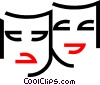 Comedy and Drama Masks Vector Clipart graphic