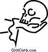 Vector Clip Art image  of a theatre/skull