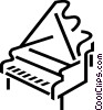 Pianos Vector Clipart illustration