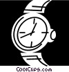 Vector Clip Art image  of a Wristwatches