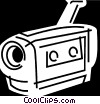Vector Clip Art graphic  of a Video Cameras