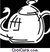 Vector Clipart graphic  of a Teapots