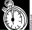 Vector Clip Art graphic  of a Stopwatches