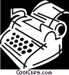 Vector Clipart illustration  of a Typewriters