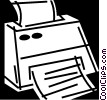Fax Machines Vector Clipart illustration