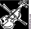 Vector Clip Art graphic  of a violin