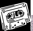 Vector Clipart illustration  of a Cassette Tapes