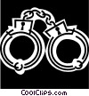Handcuffs and Leg Irons Vector Clipart illustration