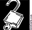 Keys and Locks Vector Clipart graphic