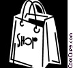 Vector Clipart illustration  of a Shopping Bags