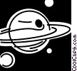 Planetary Bodies Vector Clip Art graphic