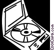 Compact Discs  CD's Vector Clipart graphic