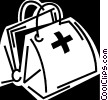 Vector Clip Art picture  of a Doctor's bag