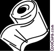 Vector Clip Art graphic  of a Toilet Paper