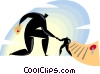 Vector Clip Art graphic  of a businessmen shaking hands