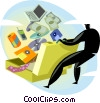 Vector Clipart illustration  of a Business supplies