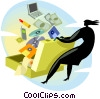 Vector Clip Art image  of a Business supplies