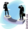 Vector Clipart picture  of a Business people on the phone