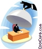 businessman being revealed Vector Clipart illustration