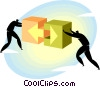 teamwork Vector Clipart graphic