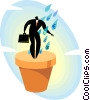 Vector Clip Art image  of a concept of growth