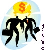 Vector Clipart graphic  of a businessmen thinking of money