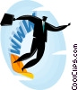 surfing the world wide web Vector Clipart picture