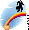 pot of gold at the end of the rainbow Vector Clipart picture