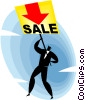 Vector Clip Art picture  of a sale sign
