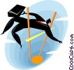 Vector Clipart image  of a businessman high jump