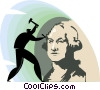 Vector Clip Art picture  of a Sculpture of George Washington