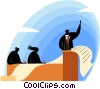 Vector Clipart illustration  of a businessman giving a speech